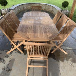 teak 8 seater furniture set