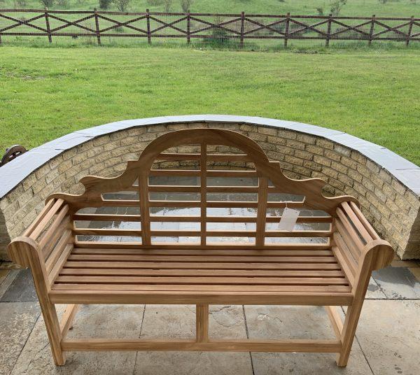 3 seater teak garden bench