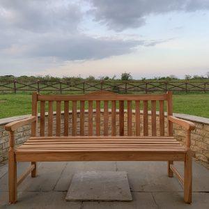 classic teak memorial bench