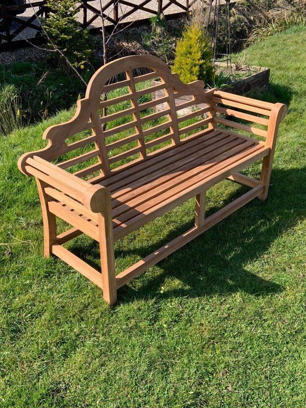 3 seater bench in teak