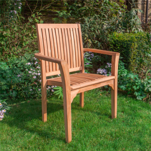 Stacking chair in teak