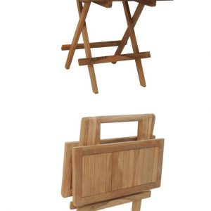 teak small square side table