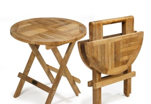 teak small side table
