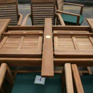 teak bailey extending table