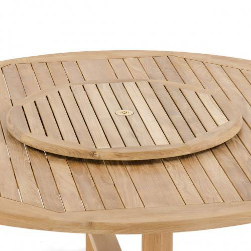 teak lazy susan for outdoor dining