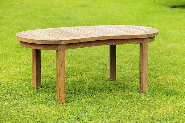 teak oxford peanut coffee table